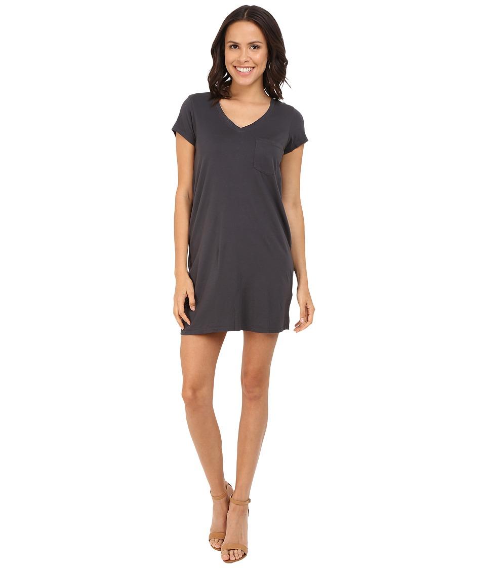 Michael Stars Short Sleeve V-Neck Tee Dress (Oxide) Women