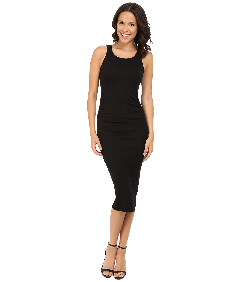 Michael Stars Shine Midi Tank Dress (Black) Women