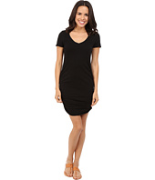Michael Stars - Short Sleeve V-Neck Rouched Mini Dress