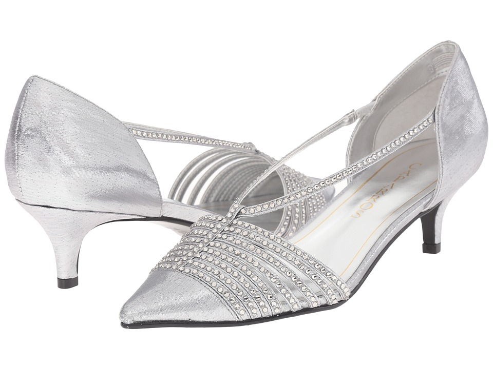 Caparros Camille Silver Lame Womens 1 2 inch heel Shoes