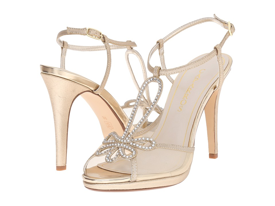 Caparros Claudia Gold Metallic Fabric High Heels