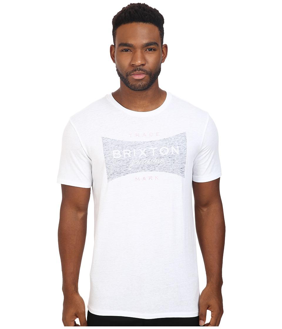 Brixton - Ramsey Short Sleeve Prem Tee (White/Navy) Men