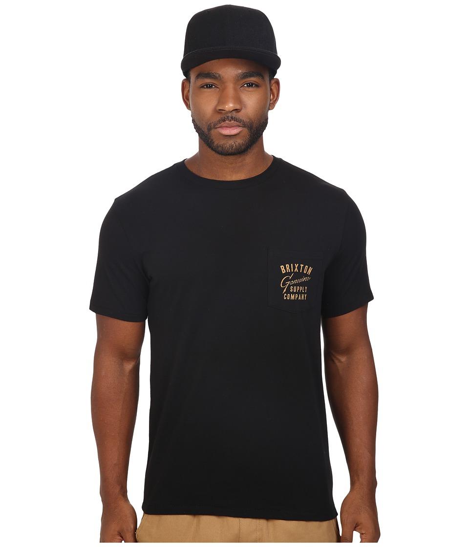 Brixton - Dunhill Short Sleeve Pocket Tee (Black) Men