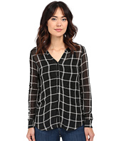Michael Stars - Plaid Mesh Long Sleeve Button Down