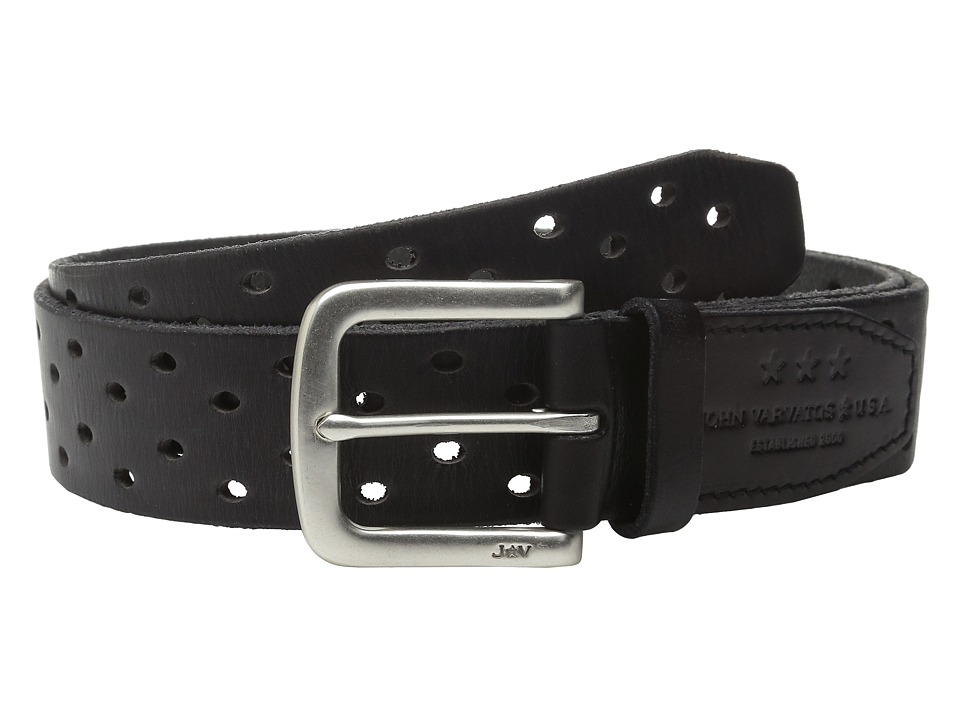 John Varvatos 38mm Harness Perforated Veg Belt Elephant Mens Belts