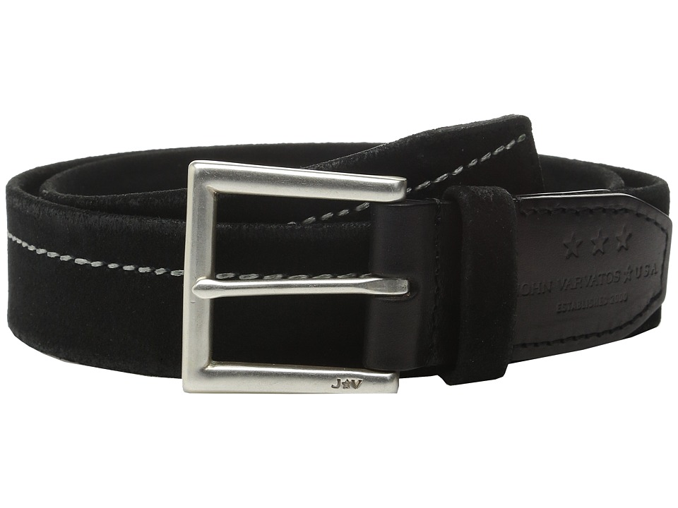 John Varvatos - 40mm Harness Brooklyn Stitched Belt (Black) Men