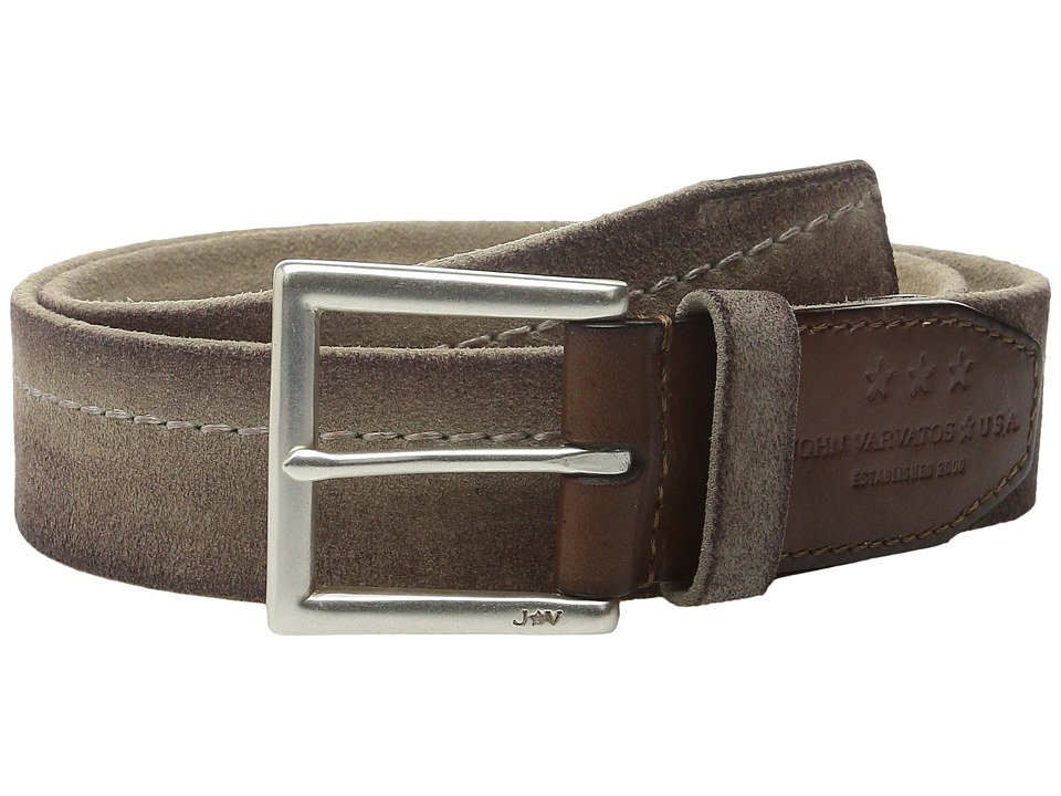 John Varvatos - 40mm Harness Brooklyn Stitched Belt (Natural) Men