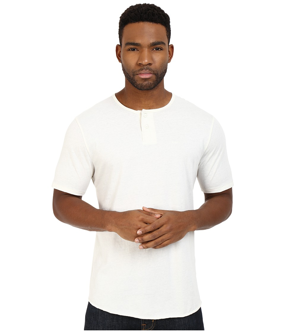 Brixton Berkeley Short Sleeve Henley Off White Mens Short Sleeve Pullover