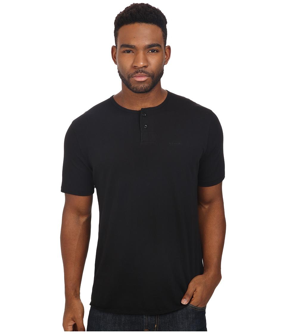 Brixton - Berkeley Short Sleeve Henley (Black) Men