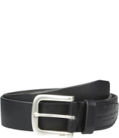 John Varvatos - 38mm Harness Textured Leather Belt