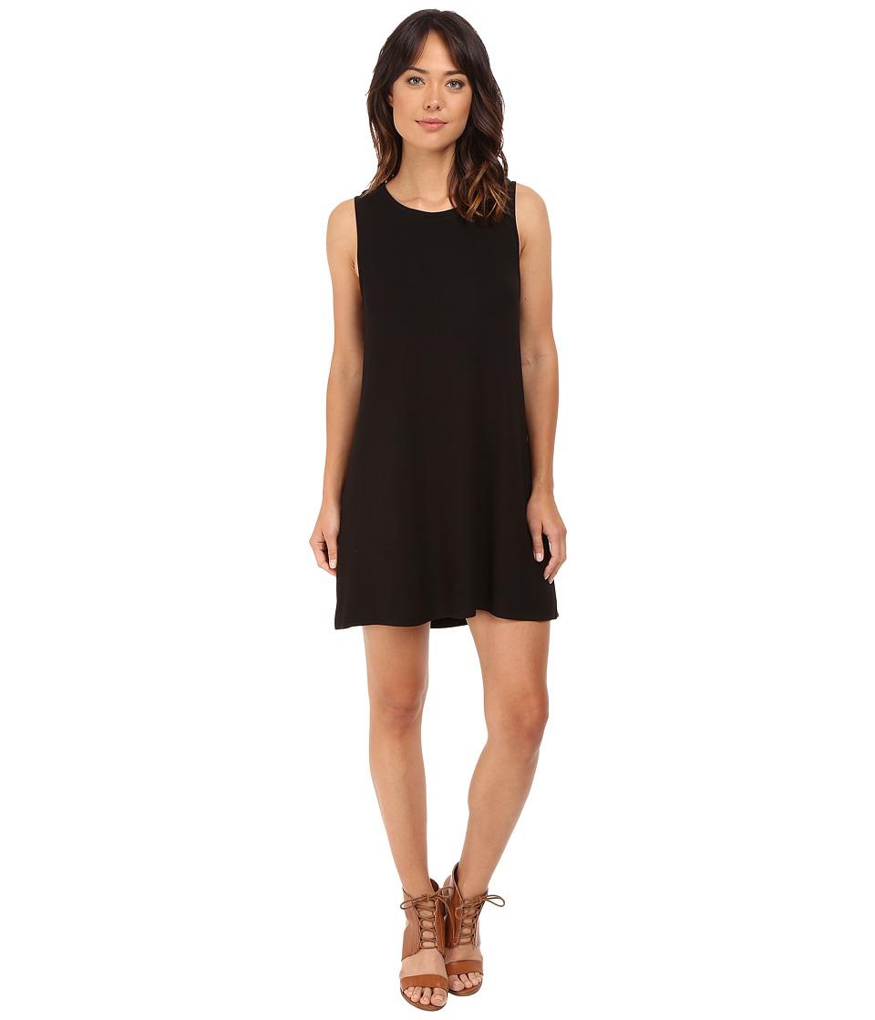 BB Dakota Lennon French Terry Dress Black Womens Dress