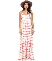 BB Dakota - Finnley Pink Plaid Printed Heavy Rayon Maxi Dress