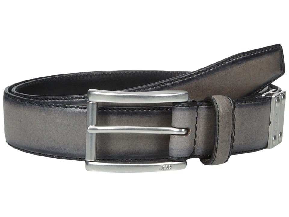 John Varvatos 32mm Harness Reverse Calf Belt Elephant Mens Belts