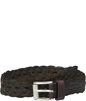 John Varvatos - 25mm Roller Harness Braided Leather Belt