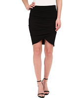 Michael Stars - Cotton Lycra Cross Front Mini Skirt