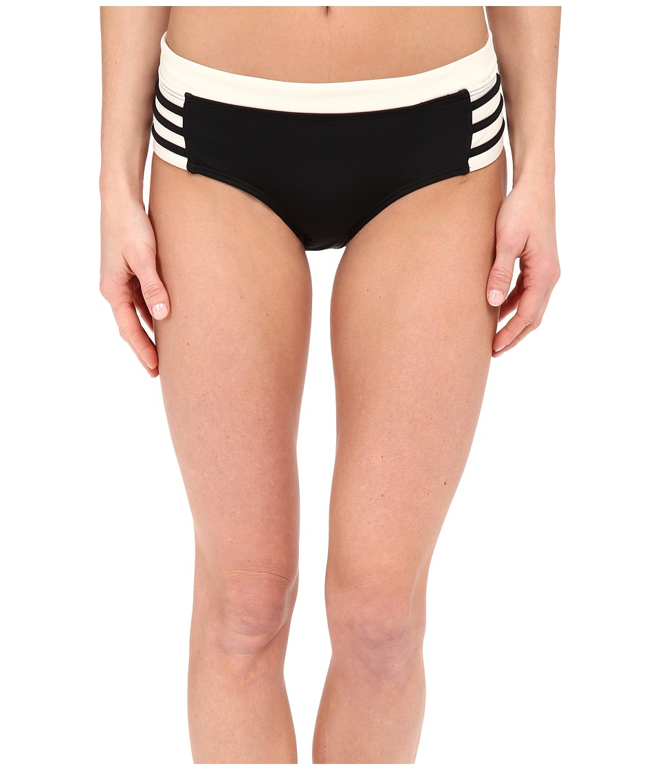 DKNY A Lister Hipster Bottom w/ Stripping Detail Black Womens Swimwear