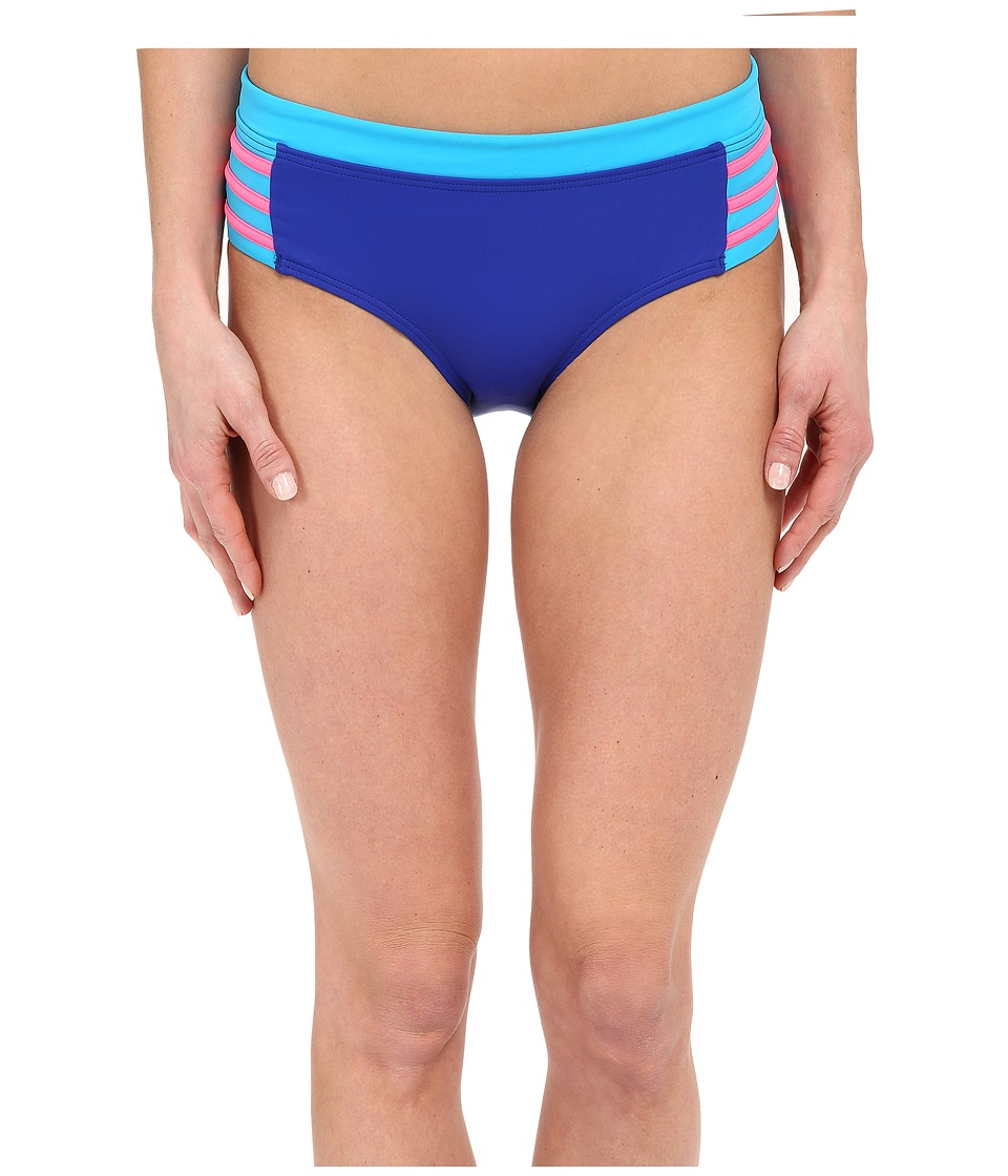 DKNY A Lister Hipster Bottom w/ Stripping Detail Electric Womens Swimwear