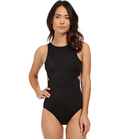 DKNY - Street Cast Solids High Neck Cut Out Maillot