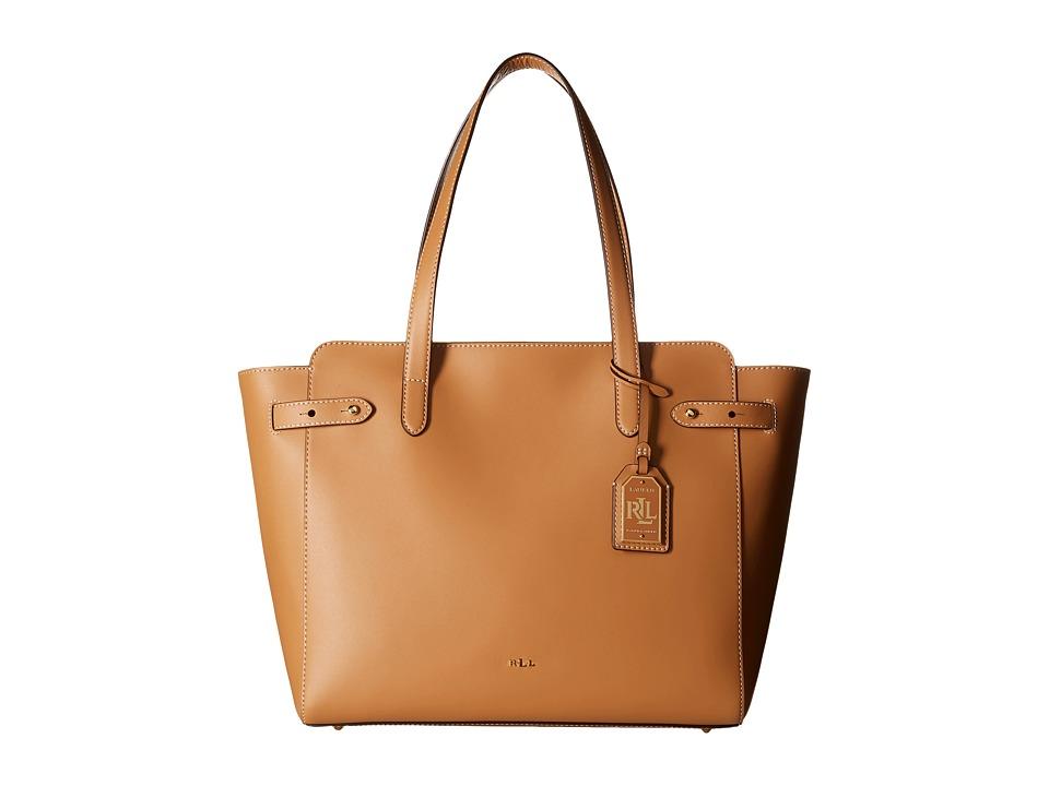LAUREN Ralph Lauren - Harper Parker Tote (Light Cuoio) Tote Handbags