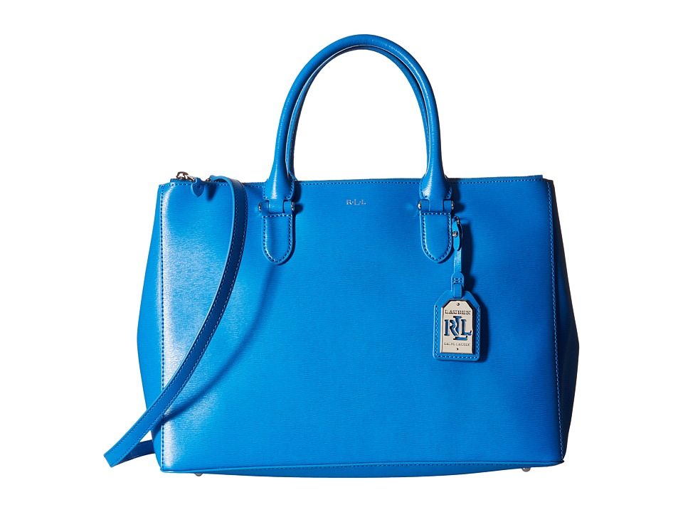 LAUREN Ralph Lauren - Newbury Double Zip Satchel (Cyan) Satchel Handbags