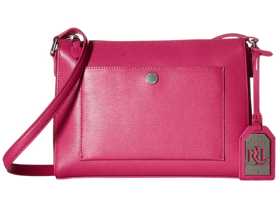 LAUREN Ralph Lauren - Newbury Pocket Crossbody (Raspberry) Cross Body Handbags