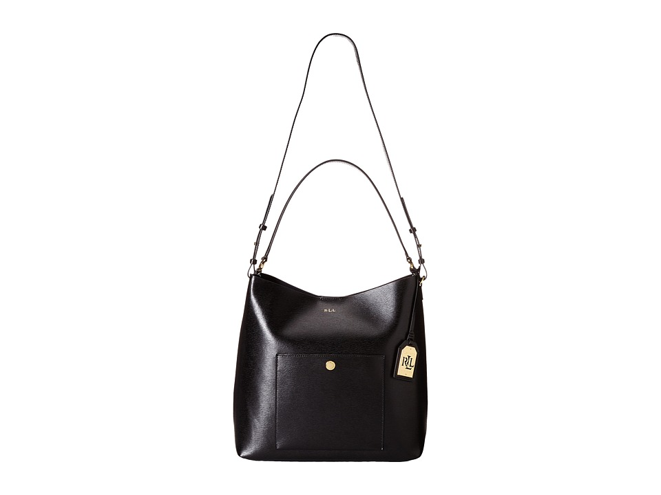 LAUREN Ralph Lauren - Newbury Pocket Hobo (Black) Hobo Handbags