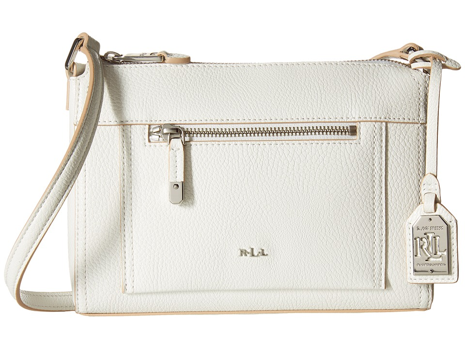 LAUREN Ralph Lauren - Paley Leigh Crossbody (Bright White) Cross Body Handbags