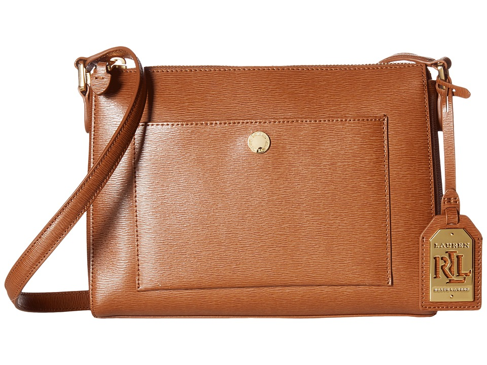 LAUREN Ralph Lauren - Newbury Pocket Crossbody (Lauren Tan) Cross Body Handbags