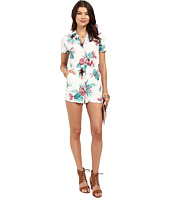 BB Dakota - Aleena Orchid Jungle Printd Hammered Crepe Romper