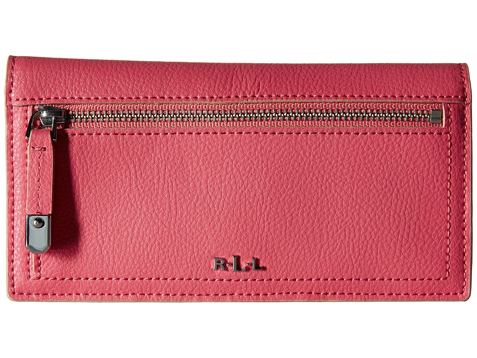 LAUREN Ralph Lauren - Paley Slim Wallet (Coral) Wallet Handbags