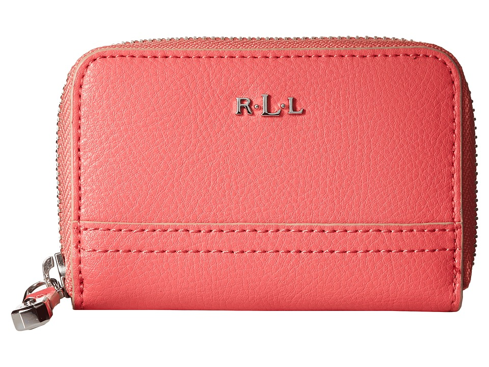 LAUREN Ralph Lauren - Paley Zip Key/Coin (Coral) Coin Purse