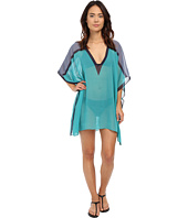 DKNY - Street Cast Solids Color Blocked Kaftan Cover-Up