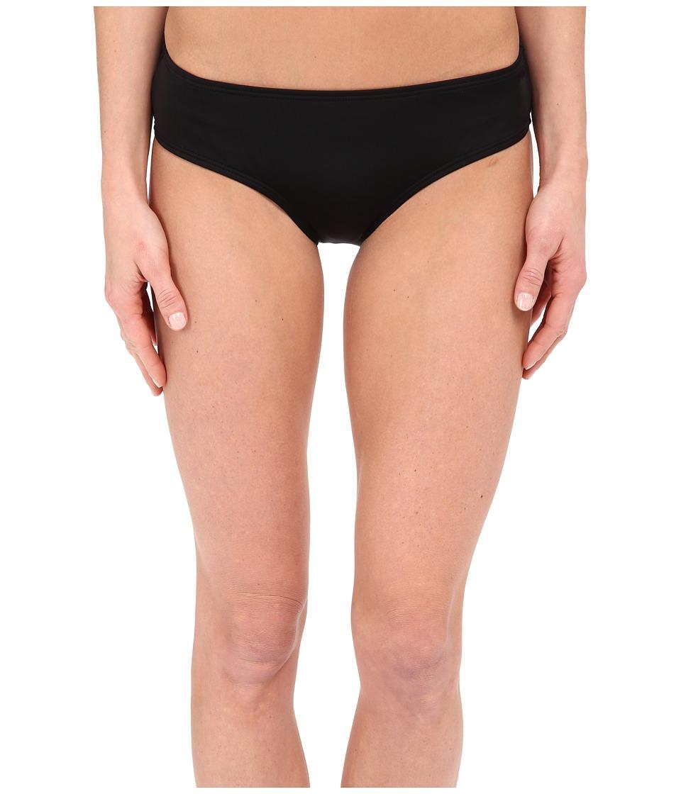 DKNY Street Cast Solids Hipster Bottom Black Womens Swimwear