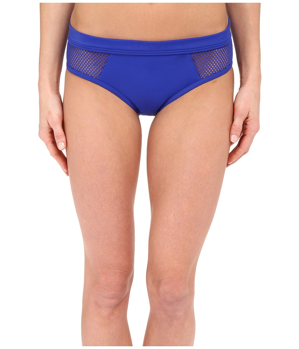DKNY Mesh Effect Mesh Splice Hipster Bottom Electric Womens Swimwear