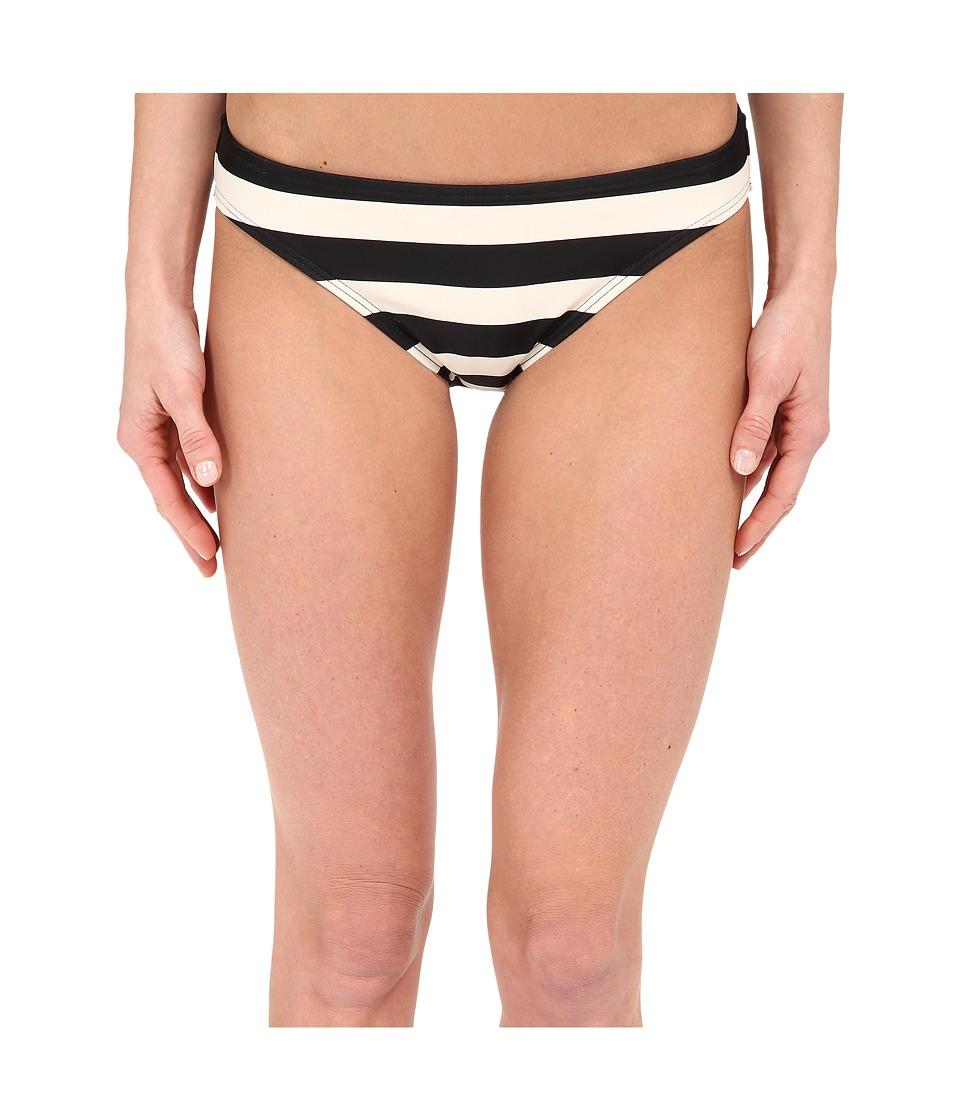 DKNY Iconic Stripe Classic Bottom Black Womens Swimwear