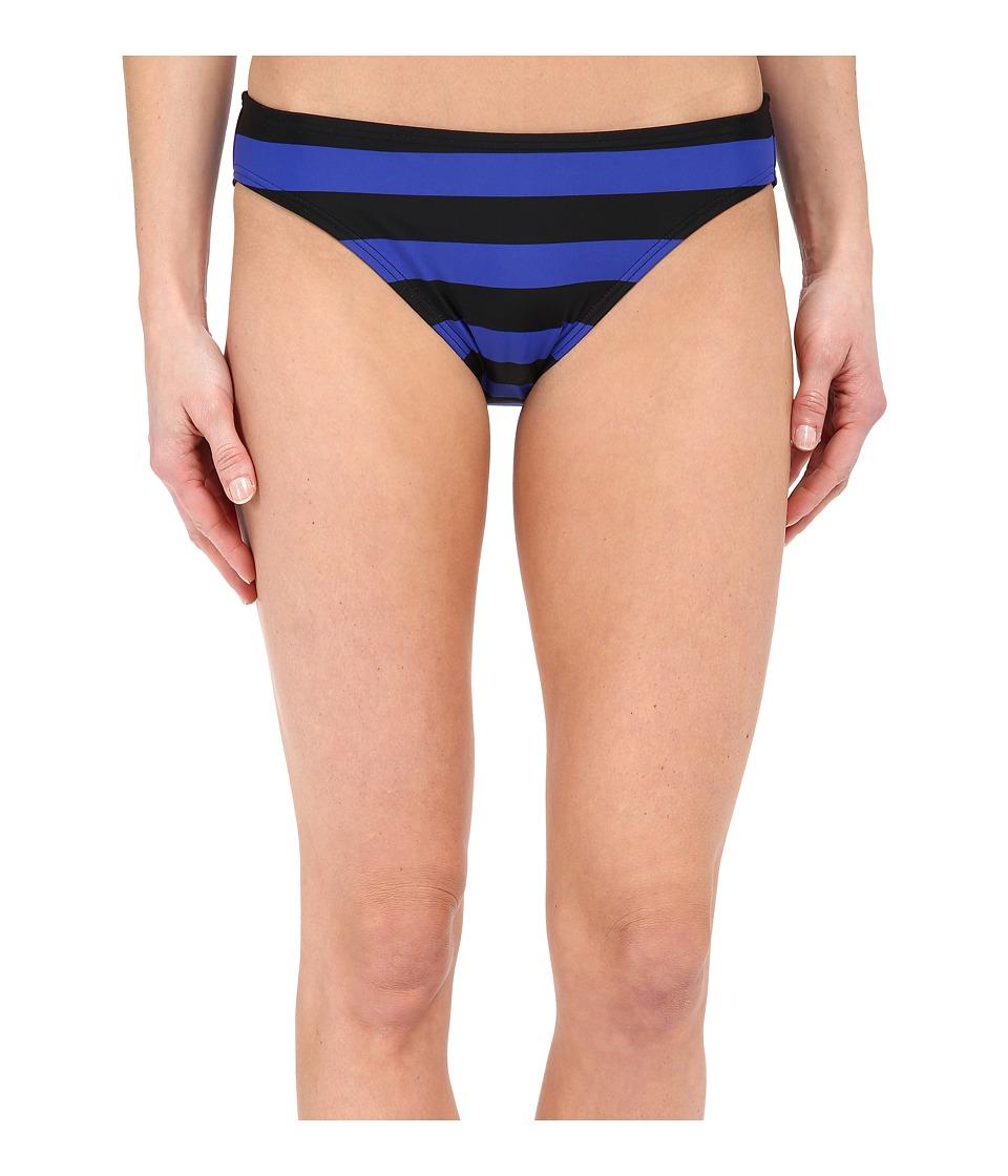 DKNY Iconic Stripe Classic Bottom Electric Womens Swimwear