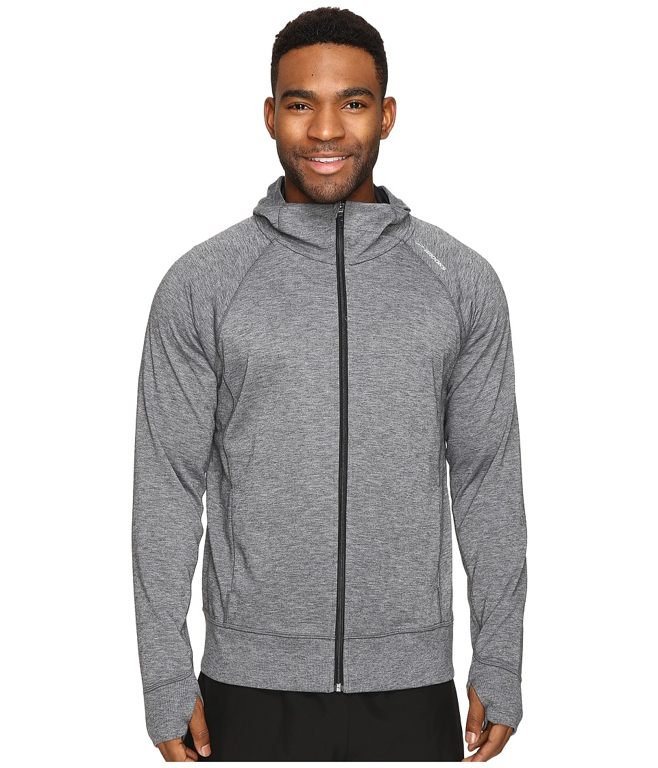 Brooks - Joyride Hoodie (Heather Black) Men