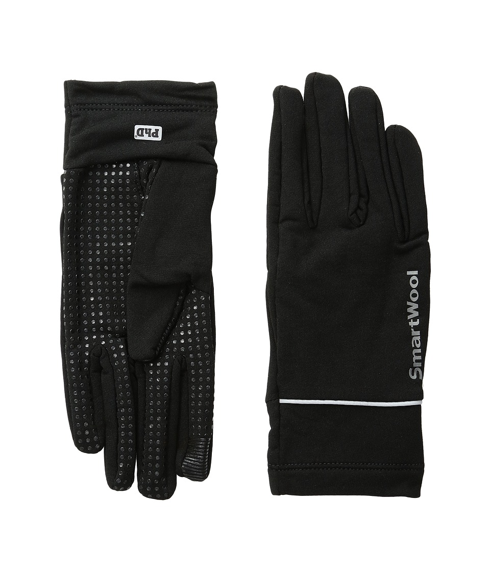 Smartwool PhD HyFi Training Gloves (Black) Wool Gloves