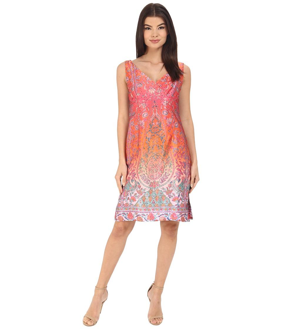 Nanette Lepore Sweet Jane Shift Dress Coral Multi Womens Dress