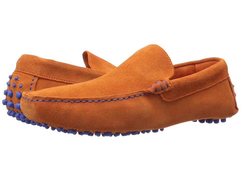 Dune London Bermuda Orange Suede Mens Slip on Shoes
