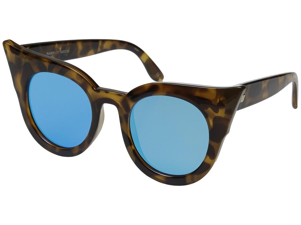 Le Specs Flashy Milky Tortoise Fashion Sunglasses
