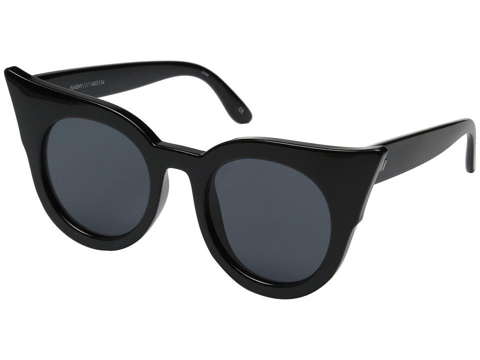 Le Specs Flashy Black Fashion Sunglasses