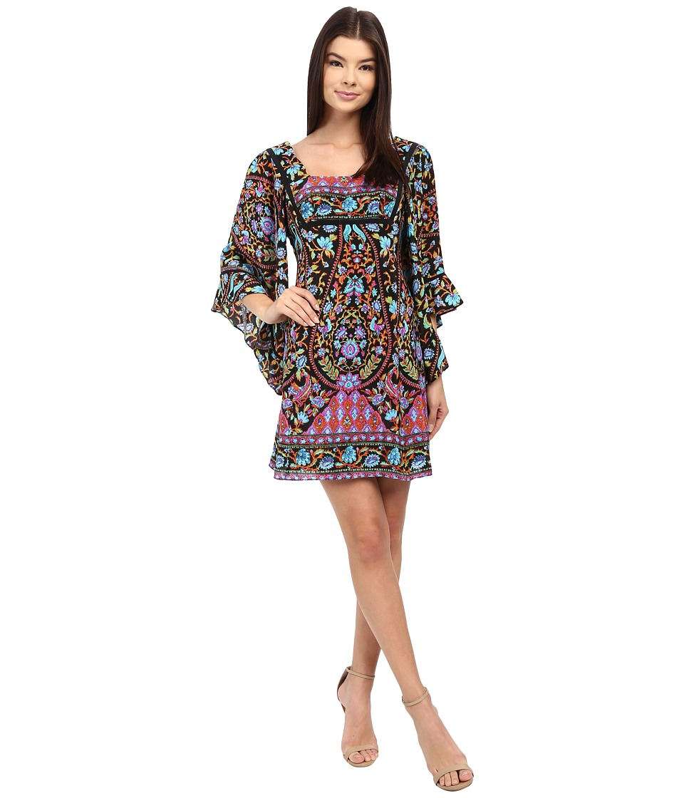 Nanette Lepore Goldie Sheath Dress Black Multi Womens Dress