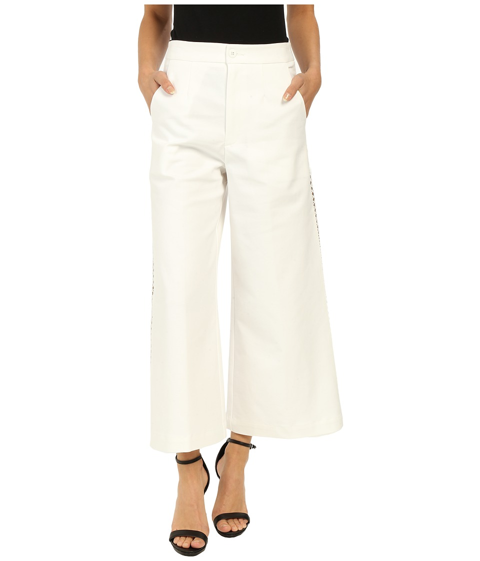 Nanette Lepore Wild Wide Leg Pants White Womens Casual Pants