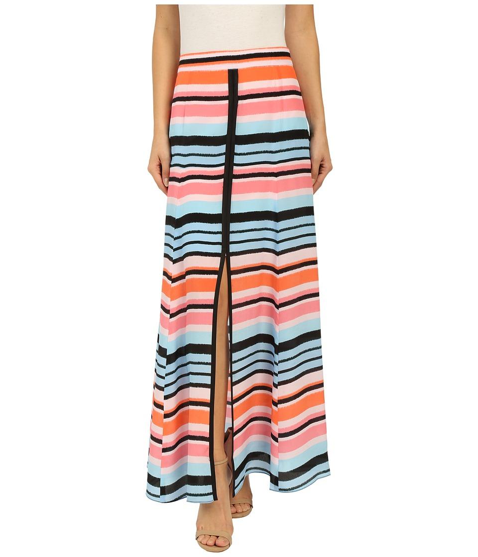 Nanette Lepore Candy Stripe Skirt Coral Multi Womens Skirt