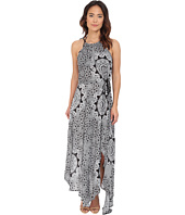 Red Carter - Medallion High Neck Maxi Dress Cover-Up