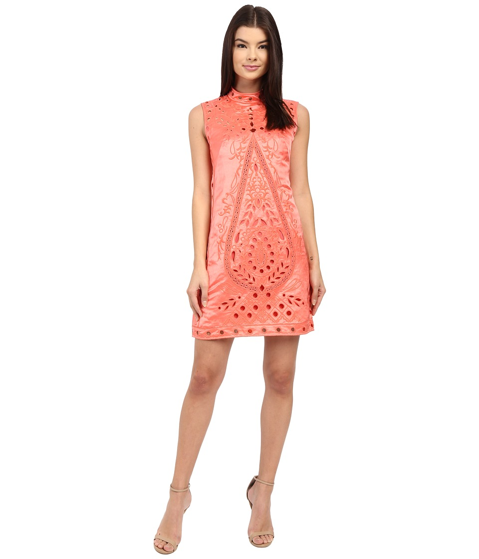 Nanette Lepore Shes My Muse Dress Coral Womens Dress