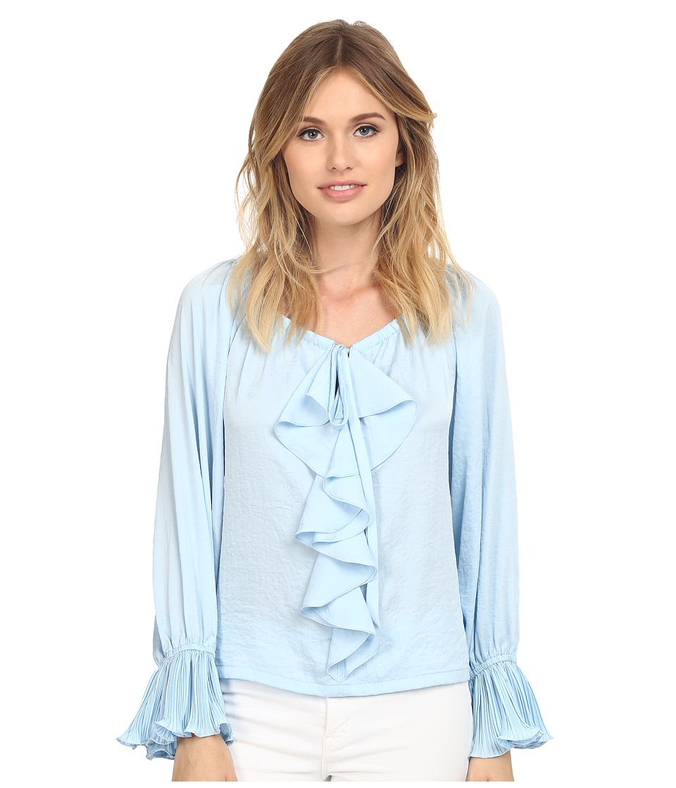 Nanette Lepore Party Pleats Top Icy Blue Womens Clothing