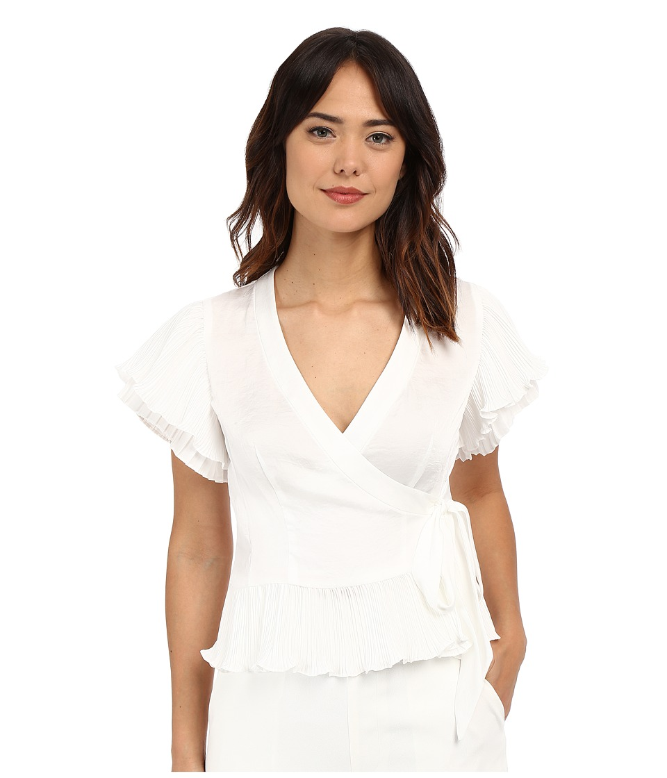 Nanette Lepore Two Step Wrap Top White Womens Clothing