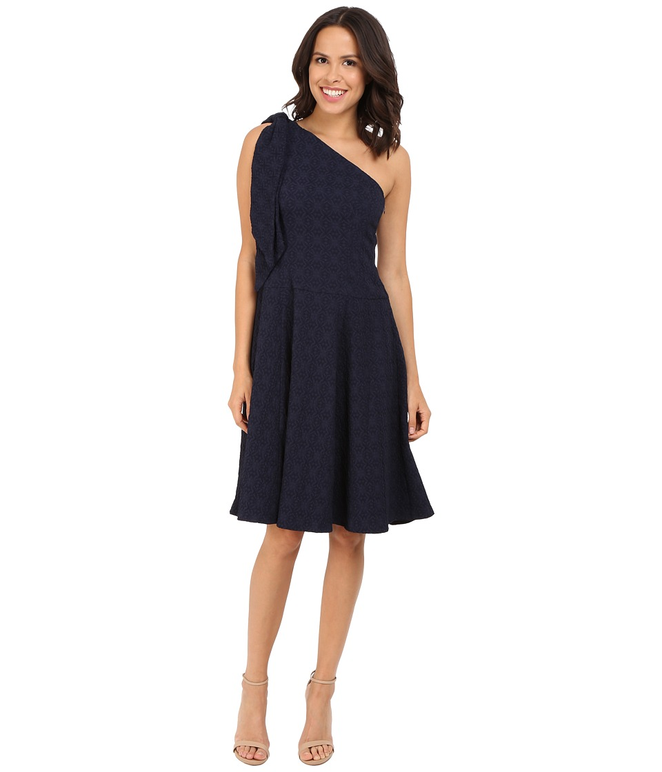 Nanette Lepore Soiree One Shoulder Dress Navy Womens Dress